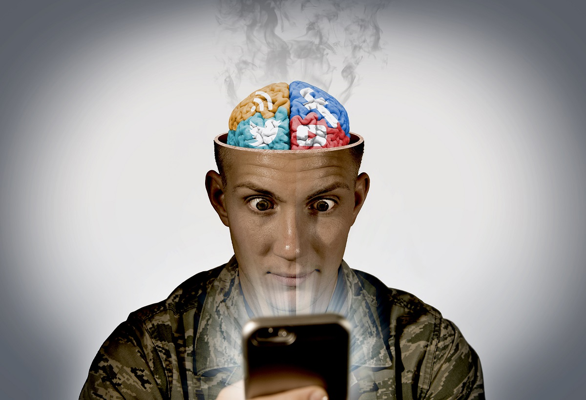 Time spent with smartphones, tablets, and computers can impact your ability to get healthy sleep. Turn off handheld devices and televisions at least two hours before bedtime. Try to avoid lying in bed and scrolling through social media and email before bedtime too. (U.S. Air Force photo illustration by Staff Sgt. Jamal Sutter)