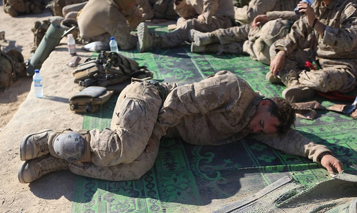 Service members are expected to get less sleep as part of the job description, but outside of duty hours many don't get the necessary sleep when they can. (U.S. Marine Corps photo)
