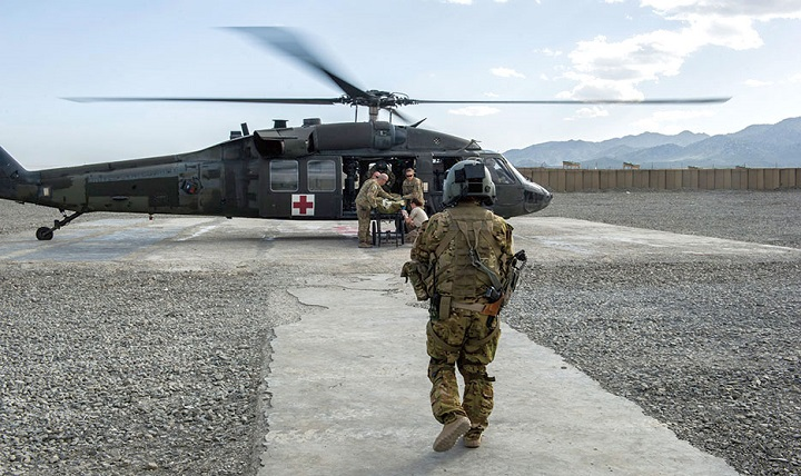 About 92 percent of Soldiers wounded in Iraq and Afghanistan have made it home alive. Soldiers in a tactical critical care evacuation team prepare for a patient transfer mission at Forward Operating Base Orgun East, Afghanistan. (U.S. Air Force photo by Marleah Miller)