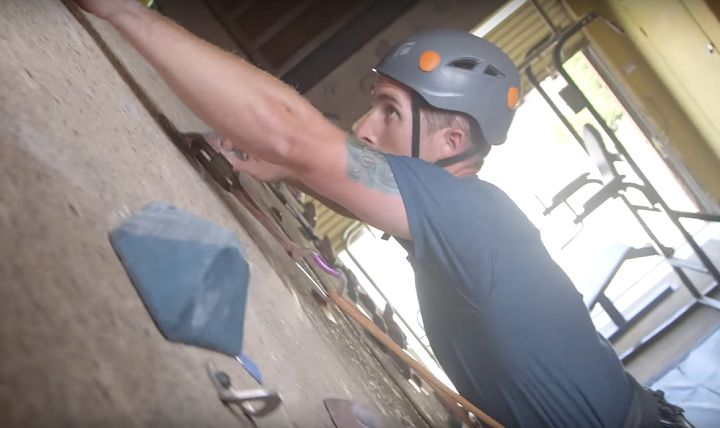 Coast Guard Petty Officer 3rd Class Colin Woodside is back to his favorite hobby of rock climbing, but with a constant awareness of the need for safety after suffering a severe TBI.